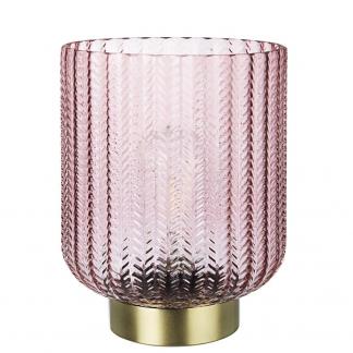 LAMPADA TAV. LED DELHI ROSA-ORO H21