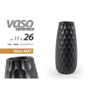 CRE/VASO MAT NERO 26CM DLP19194F/G-2