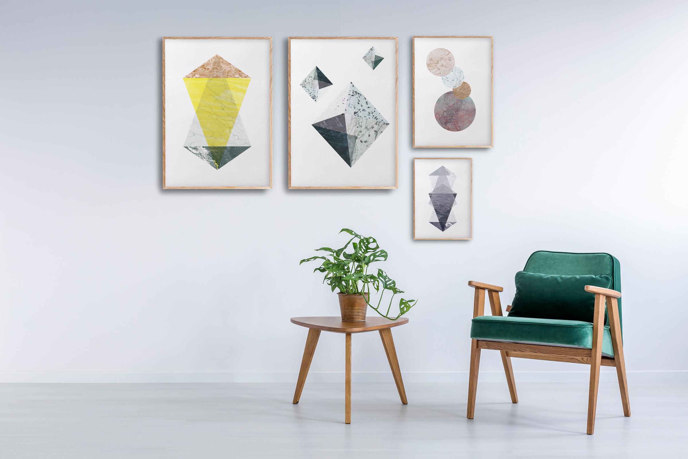 geometriske plakater | ramme | grafiske plakater | fargerik plakat | ohoi studio