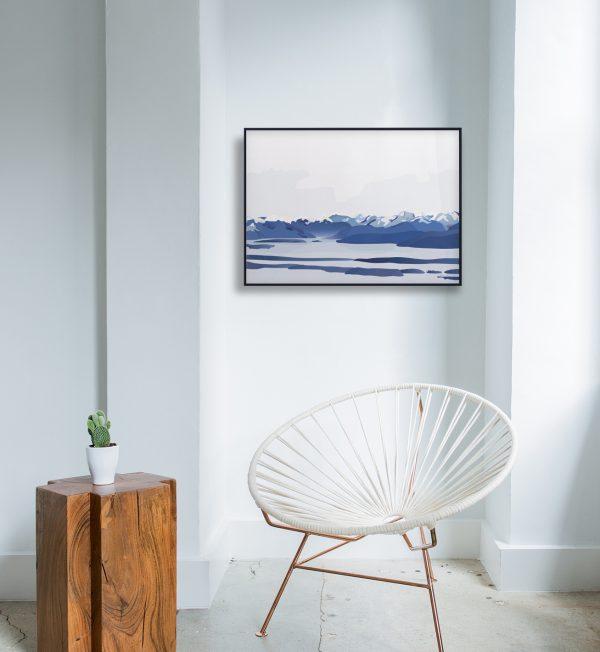 Moldefjorden no. 01 plakat   moldepanorama   Romsdal   natur   Norge   plakat   norsk natur   landskap   illustrasjon   Ohoi Studio