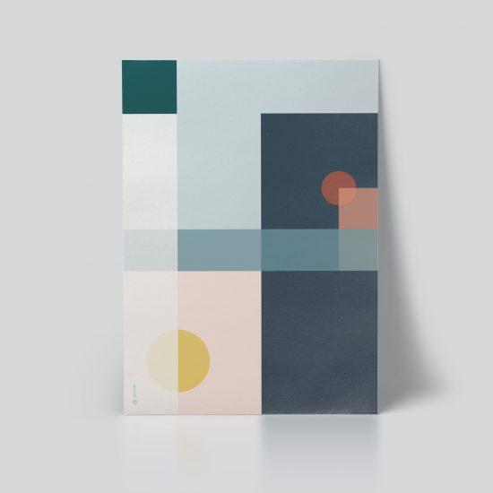 Geo Comp no. 03 plakat | geometri plakat | grafisk plakat | fargerik plakat | ohoi studio