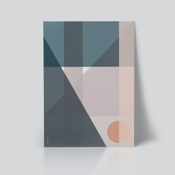 Geo Comp no. 04 plakat | geometri plakat | grafisk plakat | fargerik plakat | ohoi studio