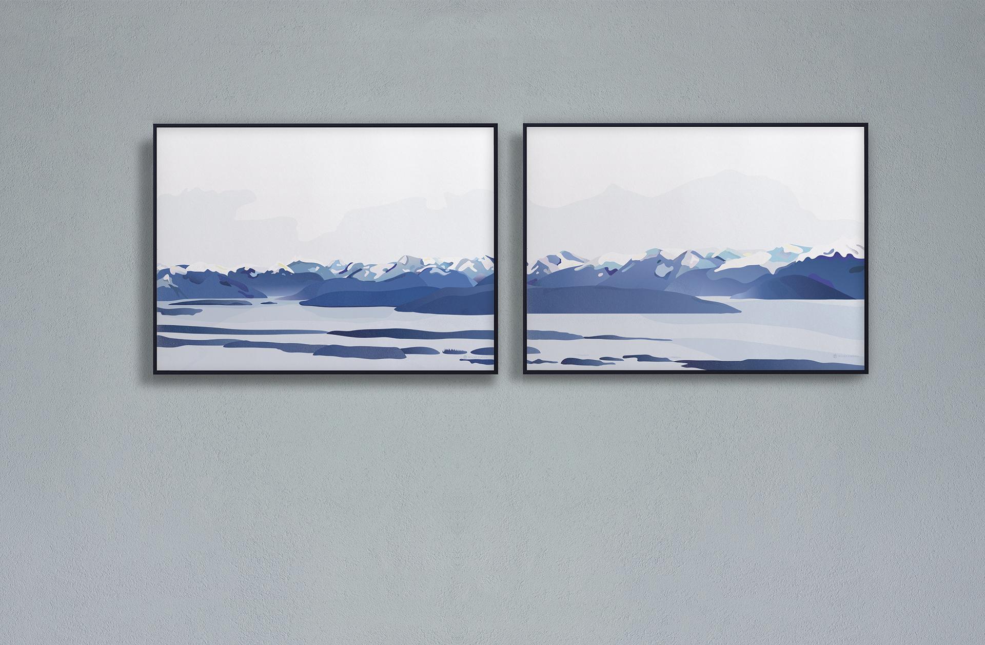 Moldefjorden | moldepanoramaet | Romsdal | natur | Norge | plakat | norsk natur | landskap | illustrasjon | Ohoi Studio