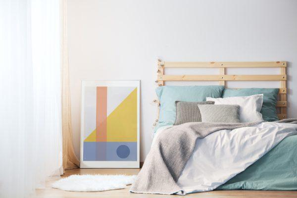 Geo Comp no. 01 plakat | geometri plakat | ramme | grafisk plakat | fargerik plakat | ohoi studio