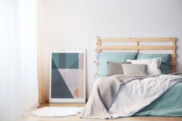 Geo Comp no. 04 plakat | geometri plakat | ramme | grafisk plakat | fargerik plakat | ohoi studio