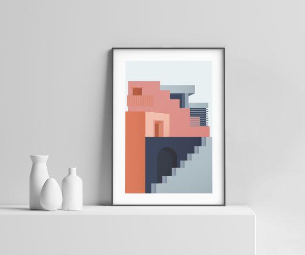 Arkitektur no.1 - Arkitektur Plakat - Illustrasjon av Ohoi Studio