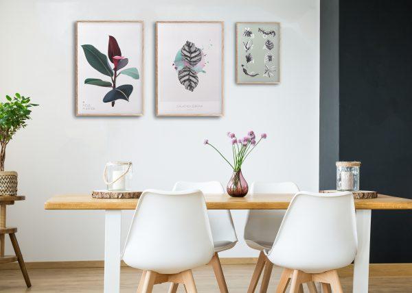 Galleri plakater | Botaniske plakater | Botanisk illustrasjon | planter | interiør | plantebord | illustrert av ohoi studio