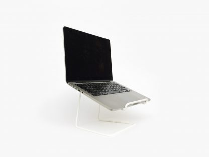 STAND laptop stand tablet laptopstandaard minimalist design white wit