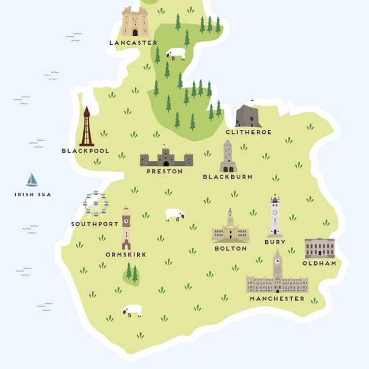 lancs map