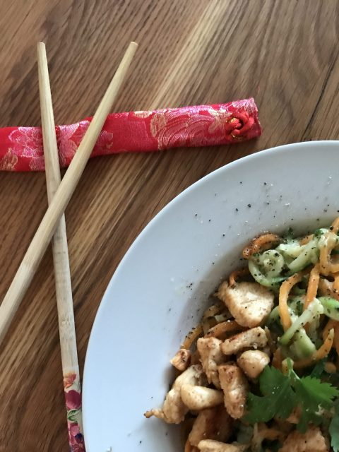 courgette wortel noodles