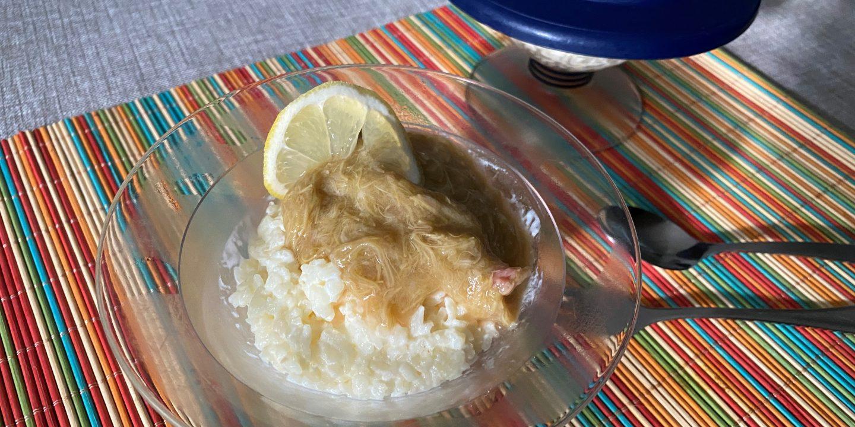 citroenrijst met rabarber