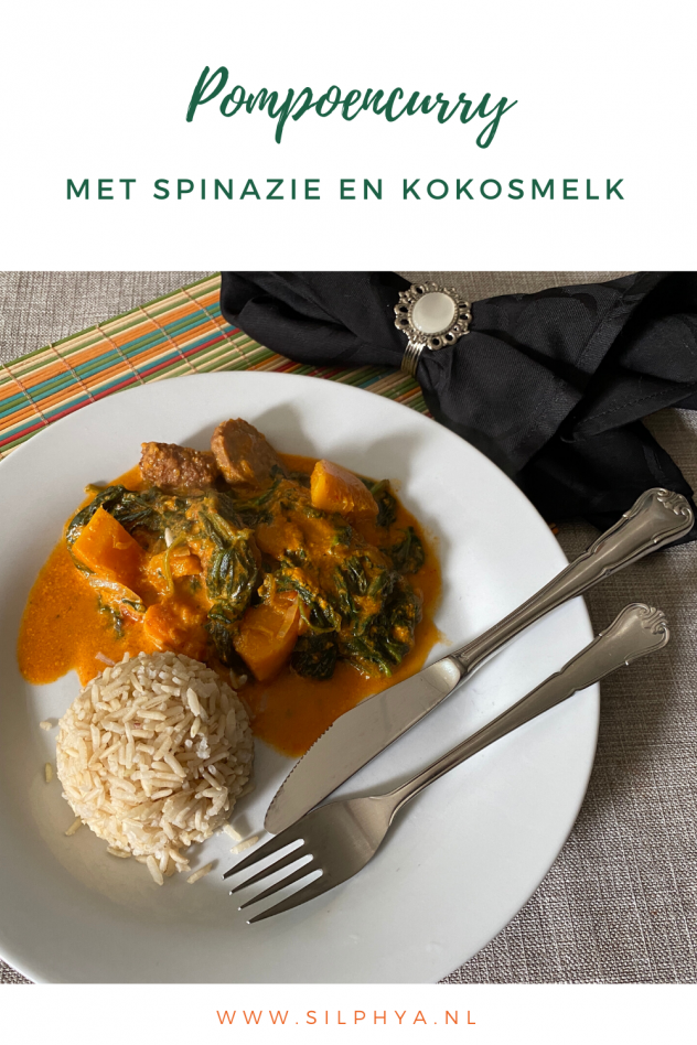 pompoencurry met spinazie
