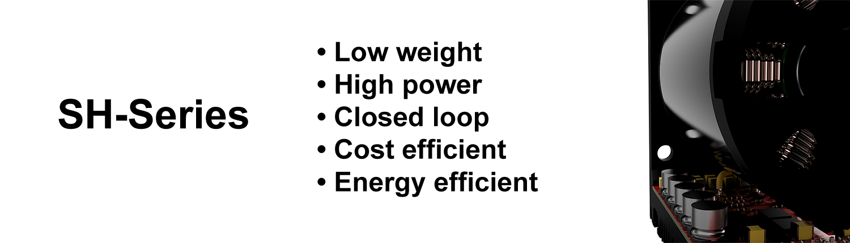 image of a presentation of a servo motor SH-series