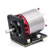 """picture of a red and grey servo motor in """"ny teknik"""""""