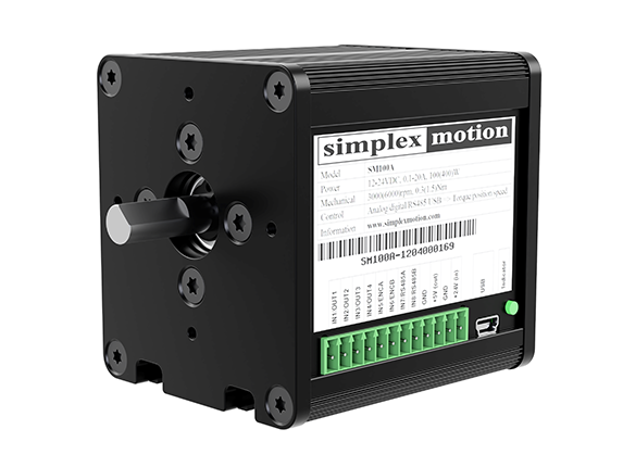 image of a bigger servo motor from simplex motion