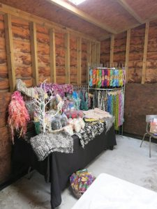 wool craft display