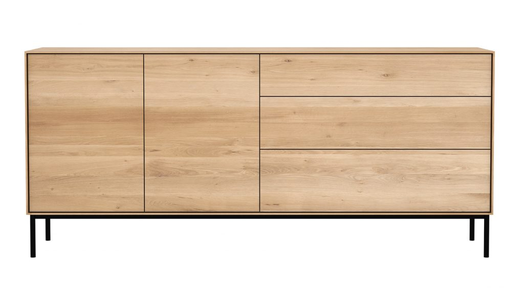 Six Sense Ieper Ethnicraft Whitebird sideboard 2 doors 3 drawers 180x45x80