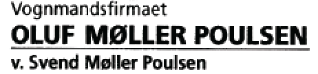 Vognmandsfirma Oluf Møller Poulsen