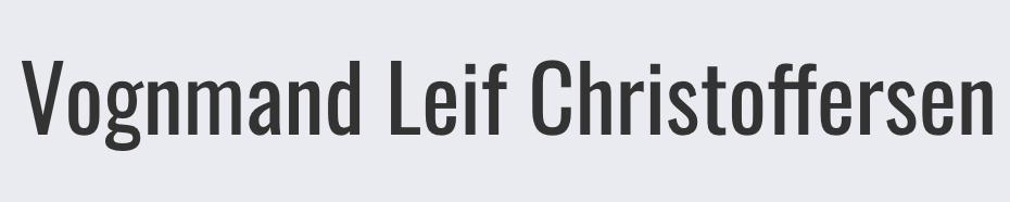 Vognmand Leif Christoffersen