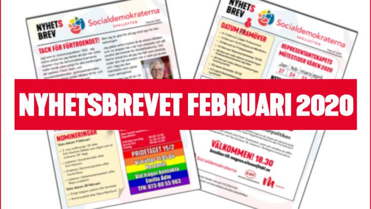 NYHETSBREVET FEBRUARI 2020