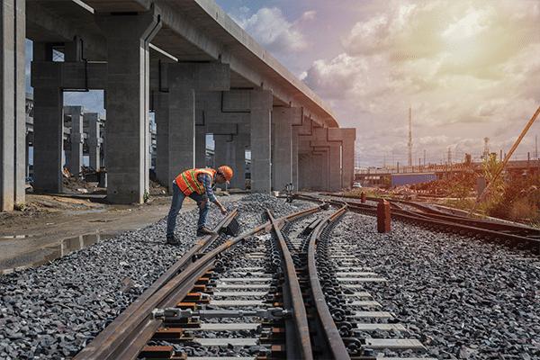 växel räls järnväg