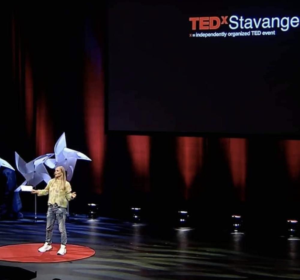 Yrja Oftedahl på TEDz Stavanger