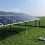 Sunpower-COM zonnepanelen op schans/stelling