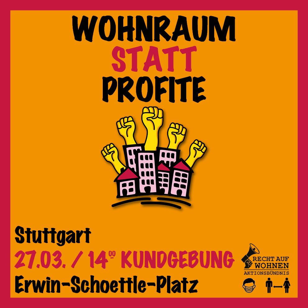 Housing Action Day 2021 Kundgebung 27.03.2021 Stuttgart