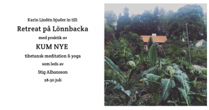 Inbjudan till retreat Lönnbacka