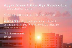 Öppen klass Kum Nye Online - Soulbeing