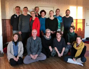Gruppbild Kum nye retreat oktober 2018