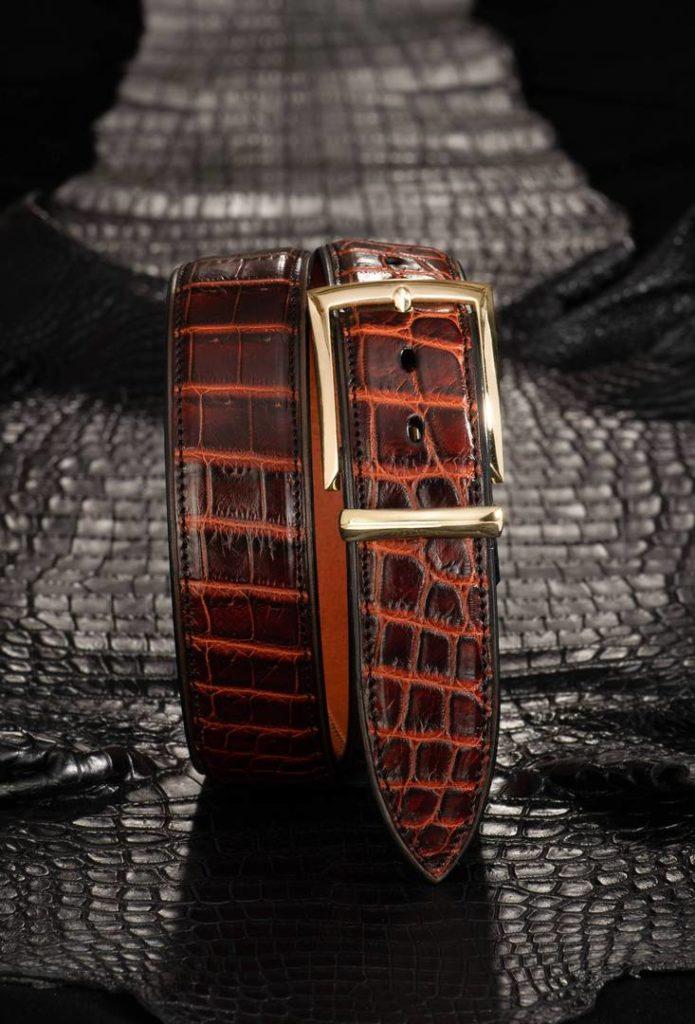 Dess. 04 guldspaende og tofarvet brun krokodille