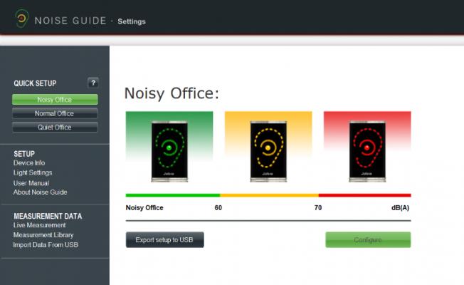 noise guide software-light settings