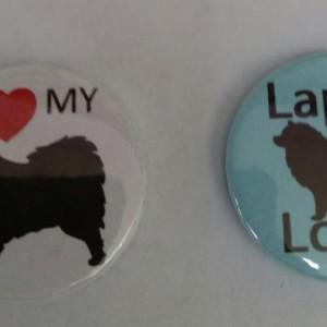 Finnish Lapphund themed badges