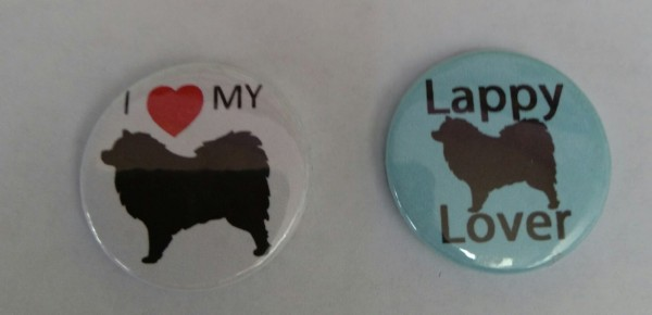 Finnish Lapphund themed badges