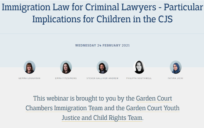Philippa Southwell discussed the landmark ECtHR judgment of VCL v UK at Garden Court Chambers webinar