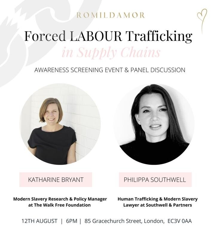 Philippa Southwell will be a guest speaker during 'Forced Labour in Supply Chains' event organised by Romildamor