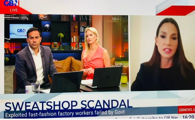 Southwell & Partners Managing Director, Philippa Southwell, interviewed by GB News on Modern Slavery Compliance in Fashion Industry