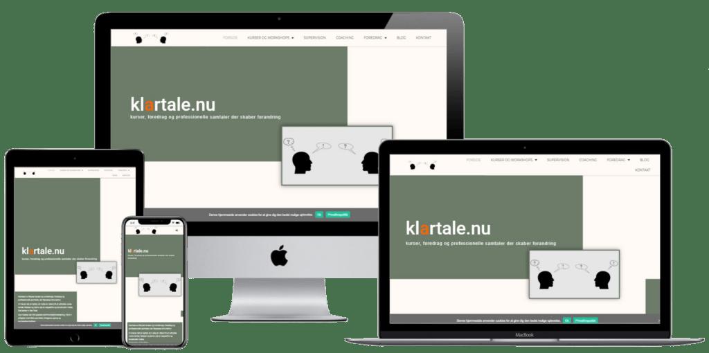 klartale.nu - design