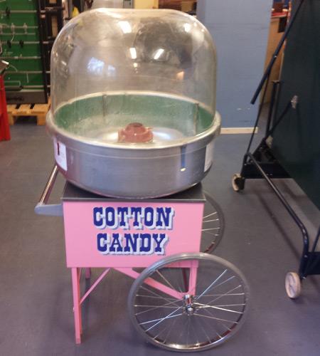 Sockervaddsmaskin med vagn