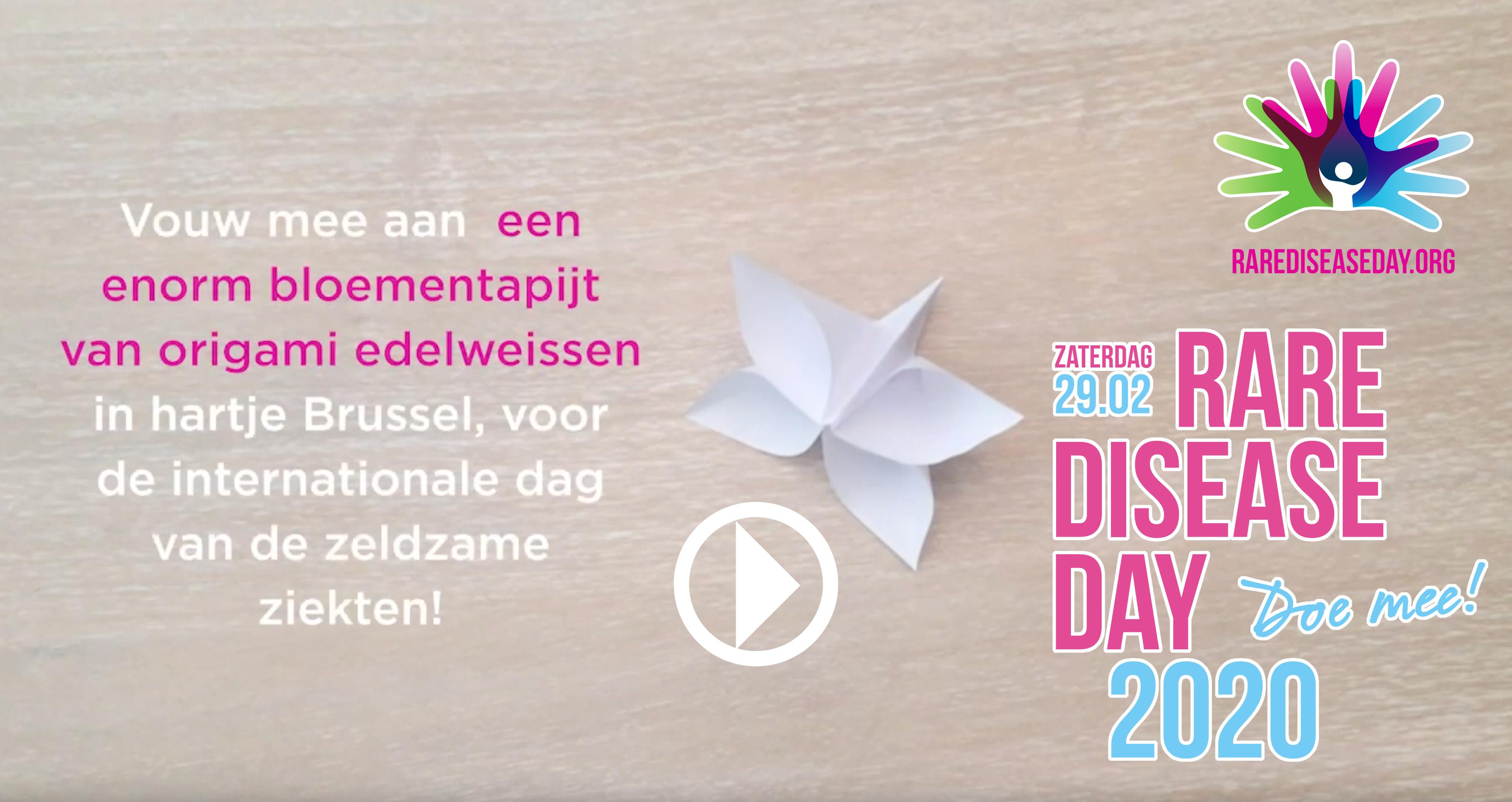 tribe-loading Edelweiss bloementapijt in Brussel voor de zeldzame ziekten