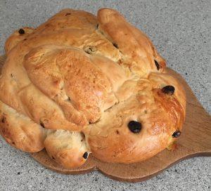 Påskehare, brød med rosiner