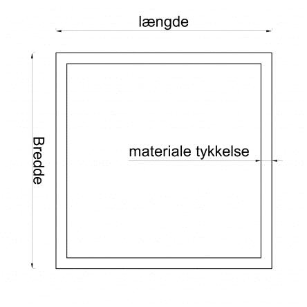 Koldtformet præcisionsrør Kvadratisk Blanke Handelskvalitet gods tykkelse 2,5mm