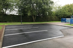 Staffordshire Tarmacing car park construction