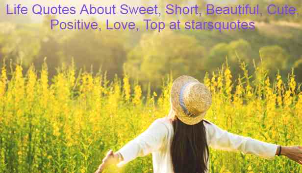 Life Quotes About Sweet, Short, Beautiful, Cute, Positive, Love, Top at starsquotes
