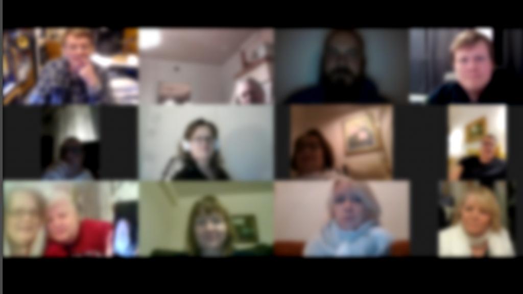 Online rukous kokouksen kuva