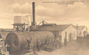 Vluchtoord Ede, waar ruim drieënvijftighonderd Belgische vluchtelingen woonden tijdens de Eerste Wereldoorlog. Bron: Collectie Gemeentearchief Ede, nr GA15945.