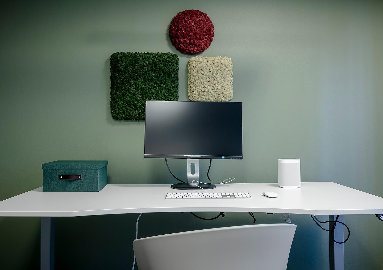 Mosstavlor från Nordgröna, Sonos, Skrivbord Ikea,