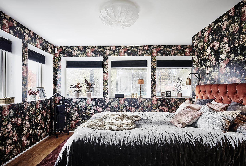 Blommig tapet, House of dackney, midnight garden