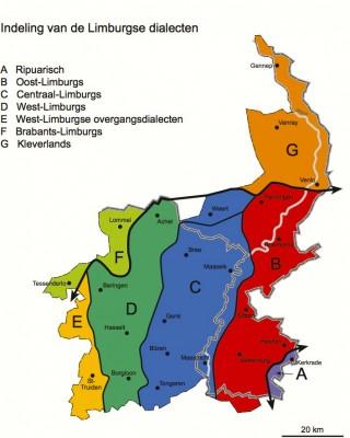Indeling Limburgse dialecten